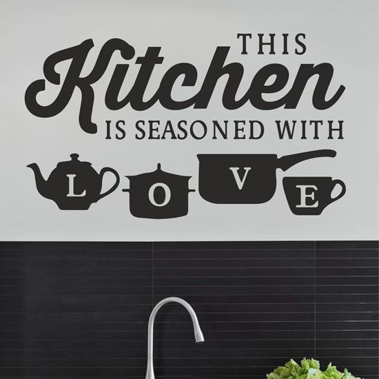 "Picture of ""This Kitchen is Seasoned...""  Wall Art sticker"