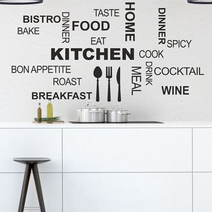 "Picture of ""Kitchen...""  Wall Art sticker"