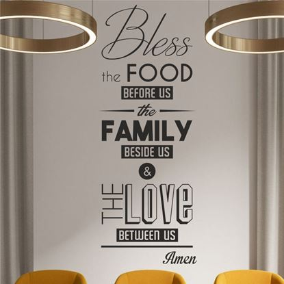 "Picture of ""Bless the food before us...""  Wall Art sticker"