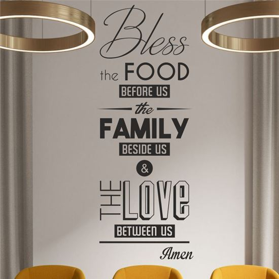 """Picture of """"Bless the food before us...""""  Wall Art sticker"""