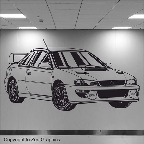 Picture of Subaru Impreza RB22 Wall Art sticker