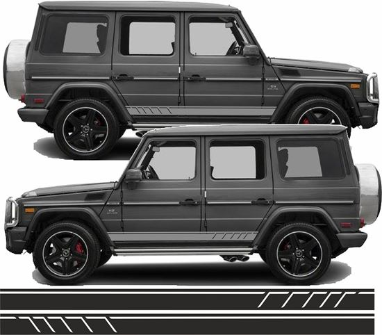 Picture of Mercedes G Class side AMG Stripes / Stickers