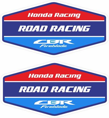 "Picture of ""Honda Racing CBR Fireblade""  Track and street race sponsor Decals / Stickers"