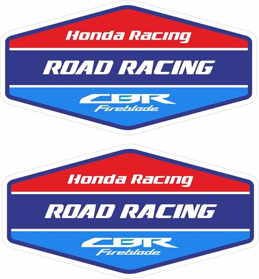 """Picture of """"Honda Racing CBR Fireblade""""  Track and street race sponsor Decals / Stickers"""