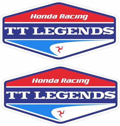 "Picture of ""Honda Racing TT Legends""  Track and street race sponsor Decals / Stickers"