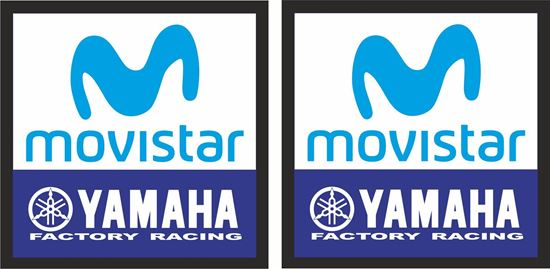 Picture of Yamaha Movistar Factory Racing Decals / Stickers
