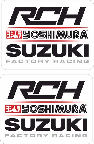 "Picture of ""Suzuki RCH Yoshimura"" Track and street race sponsor Decals / Stickers"