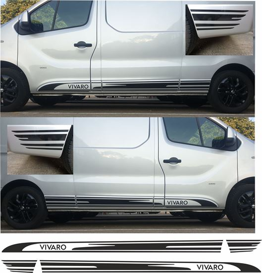 Picture of Vauxhall Vivaro long wheel base side Graphics / Stickers