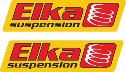 "Picture of ""elka Suspension""  Track and street race sponsor Decals / Stickers"