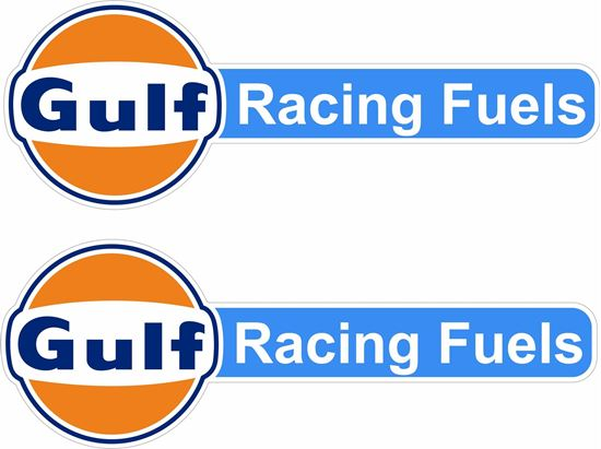 """Picture of """"Gulf Racing Fuels"""" Decals / Stickers"""
