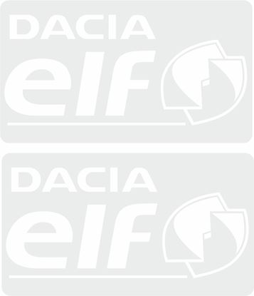 Picture of Dacia / elf replacement rear glass Decal / Sticker
