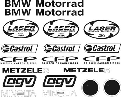 Picture of BMW belly pan decals for R 1100 Boxer Cup