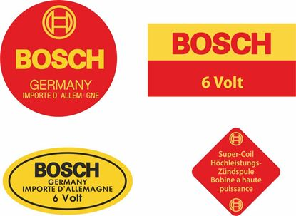 Picture of Bosch Blue Ignition Coil replacement 6V Decals / Stickers