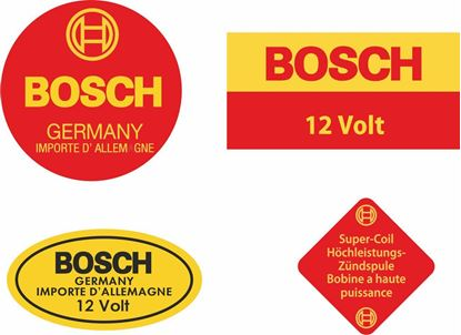 Picture of Bosch Blue Ignition Coil replacement 12V Decals / Stickers