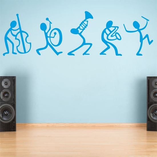 "Picture of ""Musician stick people""  Wall Art sticker"