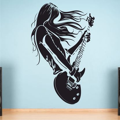 "Picture of ""Guitar Rock""  Wall Art sticker"