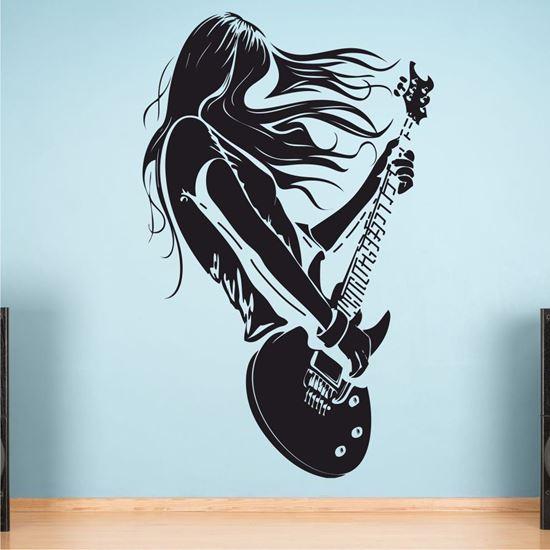 "Picture of ""Guitar Rock""  Wall Art sticker"