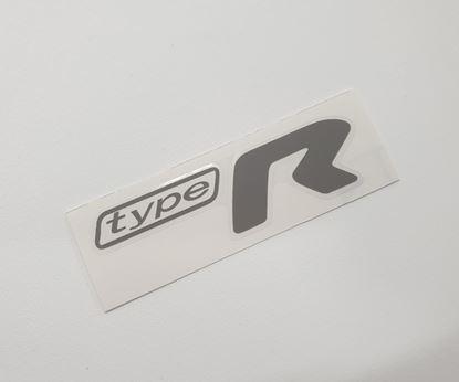 "Picture of Impreza STi ""Type R"" rear Decal / Sticker Grey"