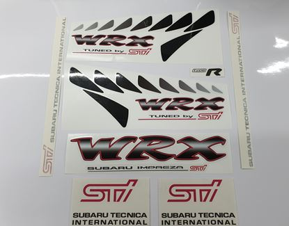 Picture of Subaru Impreza  WRX Sti Type R full replacement Decals / Stickers