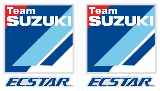 "Picture of ""Suzuki Team Ecstar""  Track and street race sponsor Decals / Stickers"
