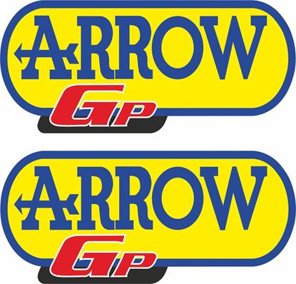 "Picture of ""Arrow Gp"" Track and street race sponsor Decals / Stickers"