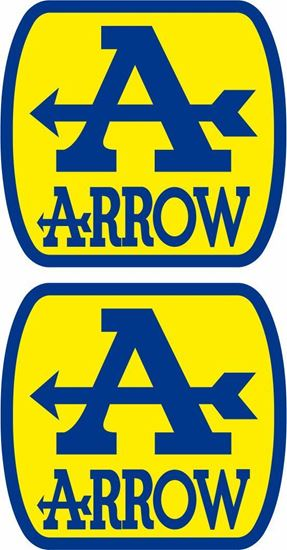 """Picture of """"Arrow"""" Track and street race sponsor Decals / Stickers"""