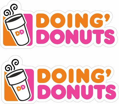 Picture of Doing Donuts Decals / Stickers