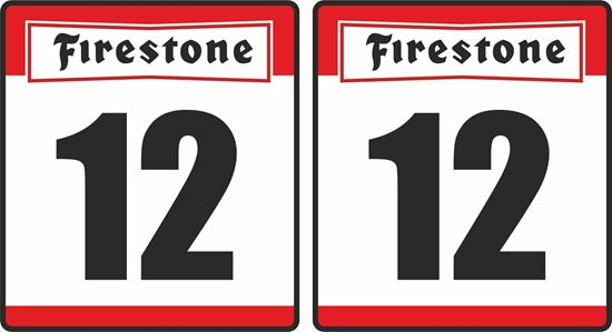 Picture of Firestone racing Door Numbers