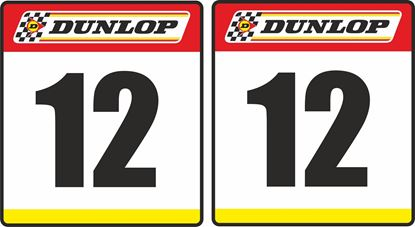 Picture of Dunlop racing Door Numbers