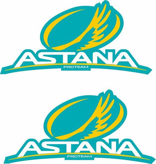 """Picture of """"Astana"""" Track and street race sponsor Decals / Stickers"""