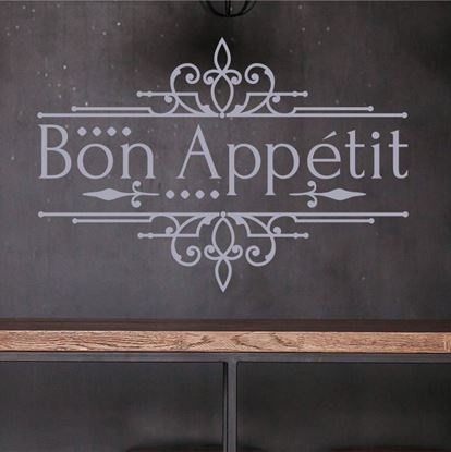 "Picture of ""Bon Appétit ""  Wall Art sticker"