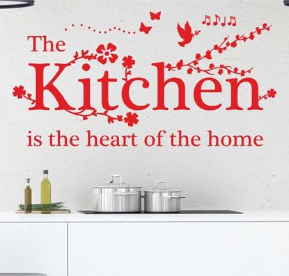 "Picture of ""The Kitchen is...""  Wall Art sticker"