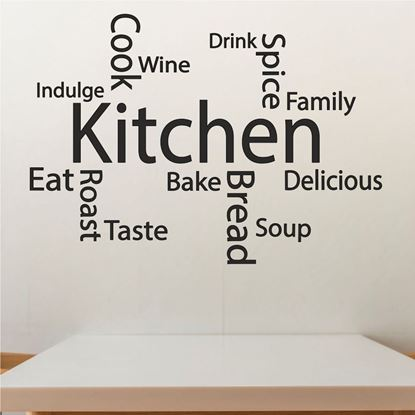 "Picture of ""Kitchen..""  Wall Art sticker"