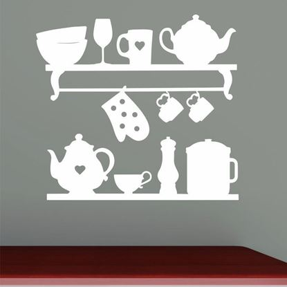 "Picture of ""Kitchen Shelves...""  Wall Art sticker"