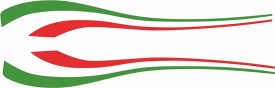 Picture of Italia side panel Swoosh  Decals / Stickers
