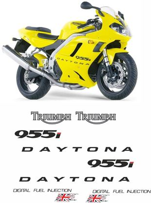 Picture of Triumph Daytona 955i 2002 replacement Decals / Stickers