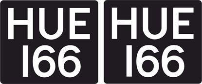 """Picture of Land Rover Defender """"HUE 166"""" Decals / Stickers"""