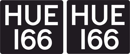 "Picture of Land Rover Defender ""HUE 166"" Decals / Stickers"