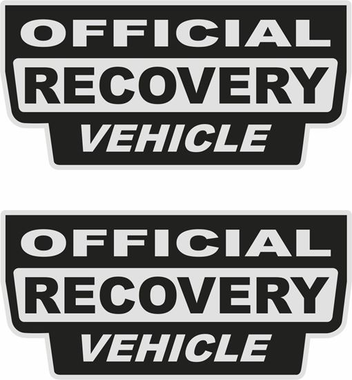 "Picture of ""Official Recovery Vehicle""  Decals / Stickers"