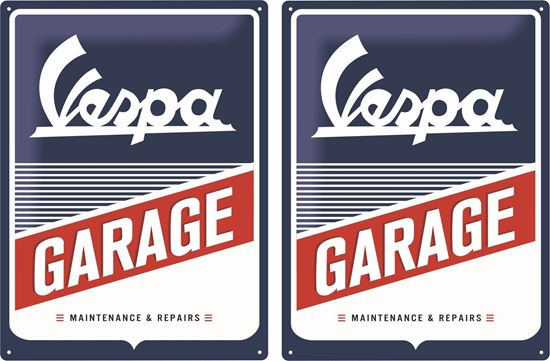 Picture of Vespa Garage Decals / Stickers