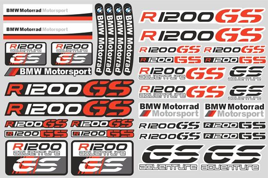 """Picture of """"R 1200GS """" BMW  Sticker Sheet"""
