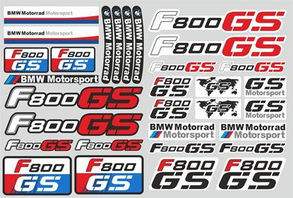 "Picture of ""R 800GS "" BMW  Sticker Sheet"