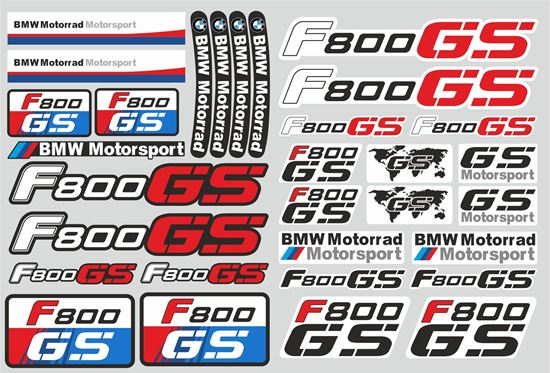 """Picture of """"R 800GS """" BMW  Sticker Sheet"""