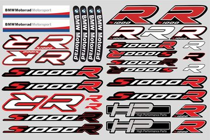 "Picture of ""S1000 R "" BMW  Sticker Sheet"