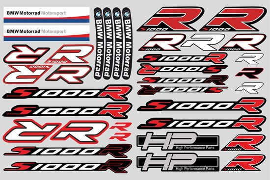 """Picture of """"S1000 R """" BMW  Sticker Sheet"""