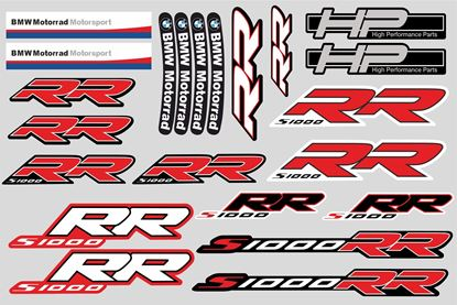 "Picture of ""S1000 RR "" BMW  Sticker Sheet"