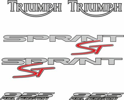 Picture of Triumph Sprint ST 955i 1998 - 2002  replacement Decals / Stickers