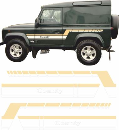 Picture of Defender 90 County side Stripes / Stickers
