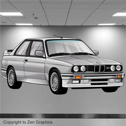 Picture of BMW E30 M3 Wall Art sticker (Full Colour)