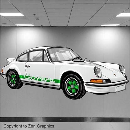 Picture of Porsche 911 RS Wall Art sticker (Full colour)